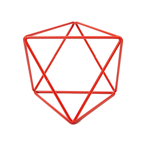 Medium eric trine octahedron   small in red