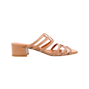 Medium by far shoes double grid nude
